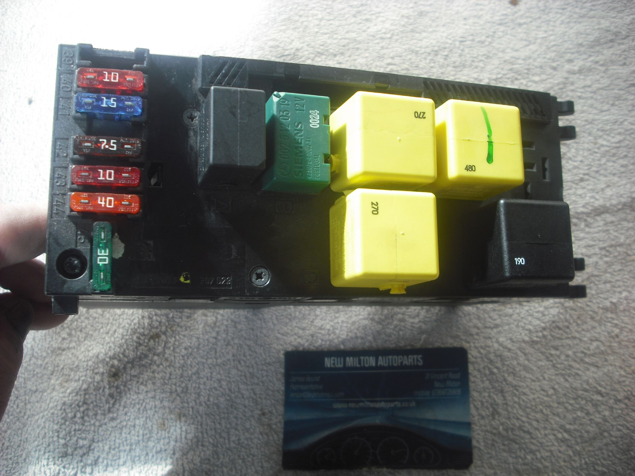 Mercedes Benz W210 E Class Fuse Box And Sam Unit Module Temic 309872 0225455332 0005401550